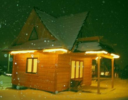 Pozostałe, Apartament TATRZAŃSKI - Widok zimową nocą