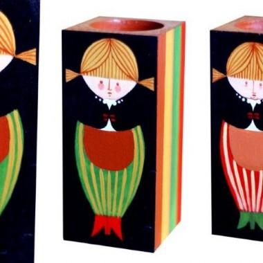Świeczniki ręcznie malowane
