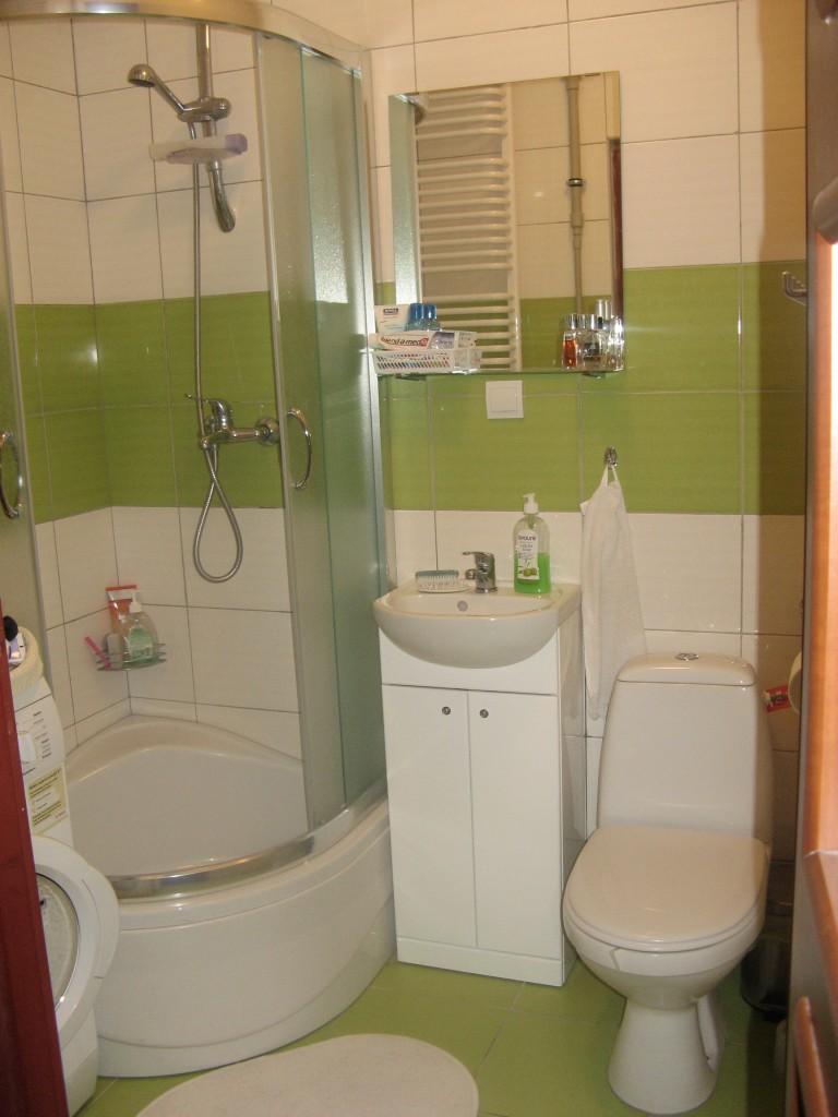 Zdjęcie 24 W Aranżacji Nasza Mała Zielono Biała łazienka