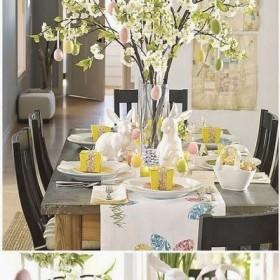 wiosenny wielkanocny stół