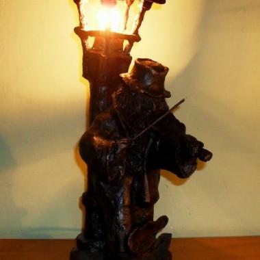 Moje rzeźby - lampki i świeczniki