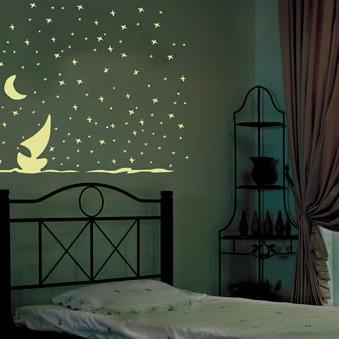 Fluorescencyjne gwiazdki, kotki, planety itp