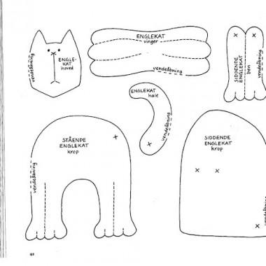 kotki aniołki wzór