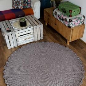Dziergany dywan - duuuuży