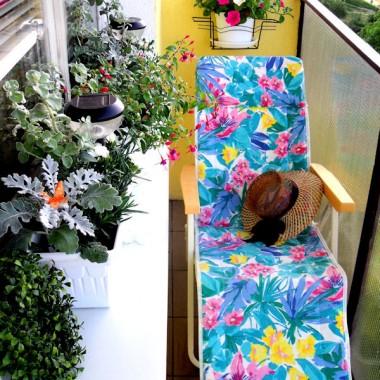 Tak wyglądały u mnie początki balkonowe, zanim na balustradzie pojawiły się skrzynki z petuniami...