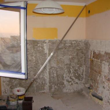 Kuchnia w trakcie remontu.