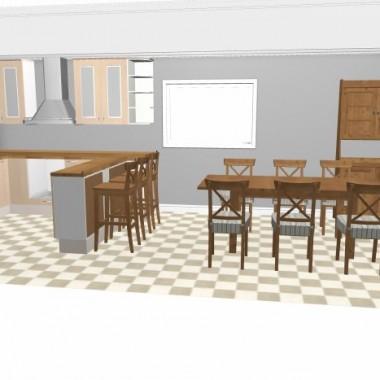 projekt kuchni wykonany w planerze IKEA...  kuchnia ma wymiary 8,6 m2. zastanawiam sie czy wysokosc i  uklad wiszacych szafek wyglada ok , chodzi mi o te sciane z okapem. fronty beda lidingo. prosze o porady