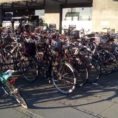 Parking rowerowy, rower traktowany jest tu jako środek transportu
