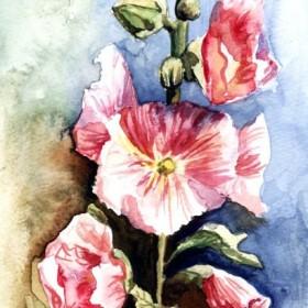 kwiaty w akwareli - moje prace &#x3B;-)