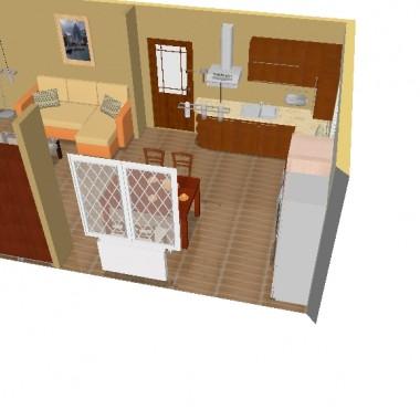 Projekt autorski kuchni z salonem