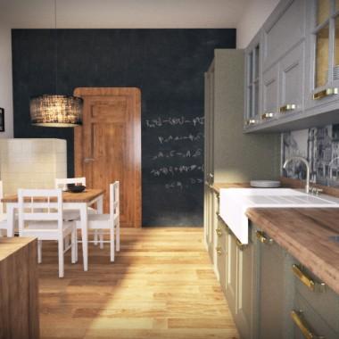 Kuchnia w starej kamienicy - Bydgoszcz (propozycja retro)