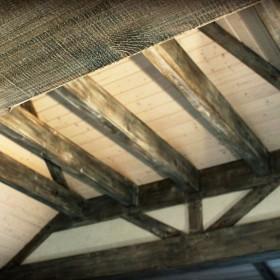Portal ,Sufit, Bielone Belki, Wooden Painted Pine Beams