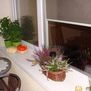 Mój jesienny balkonik