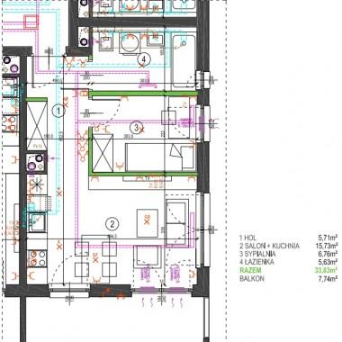 Małe mieszkanko 33 m2 - urządzenie salonu