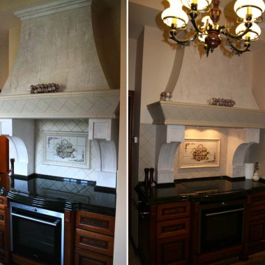 elegancka kuchnia z dekorem na starocie