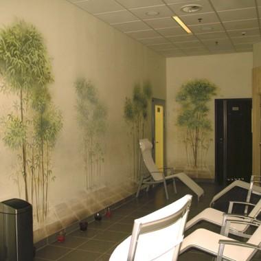 Malowidła ścienne w klubie Gravitan