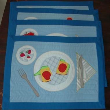 podkładki śniadaniowe ala patchwork