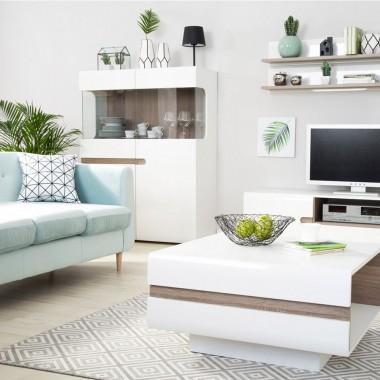 Meble w stylu skandynawskim to stale popularny trend w polskich domach. Biel i odcienie drewna pasują do większości aranżacji w tym stylu.
