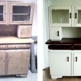 Kuchenny kredens Art Deco we współczesnej aranżacji.