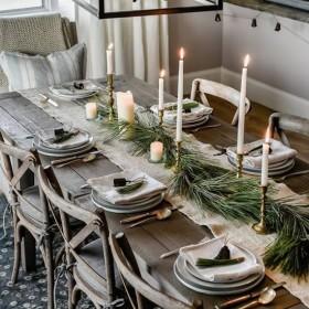Ozdoby bożonarodzeniowe na stół