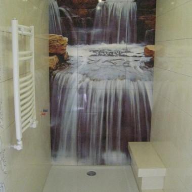 płytki ceramiczne z nadrukiem zdjęciem - wodospad