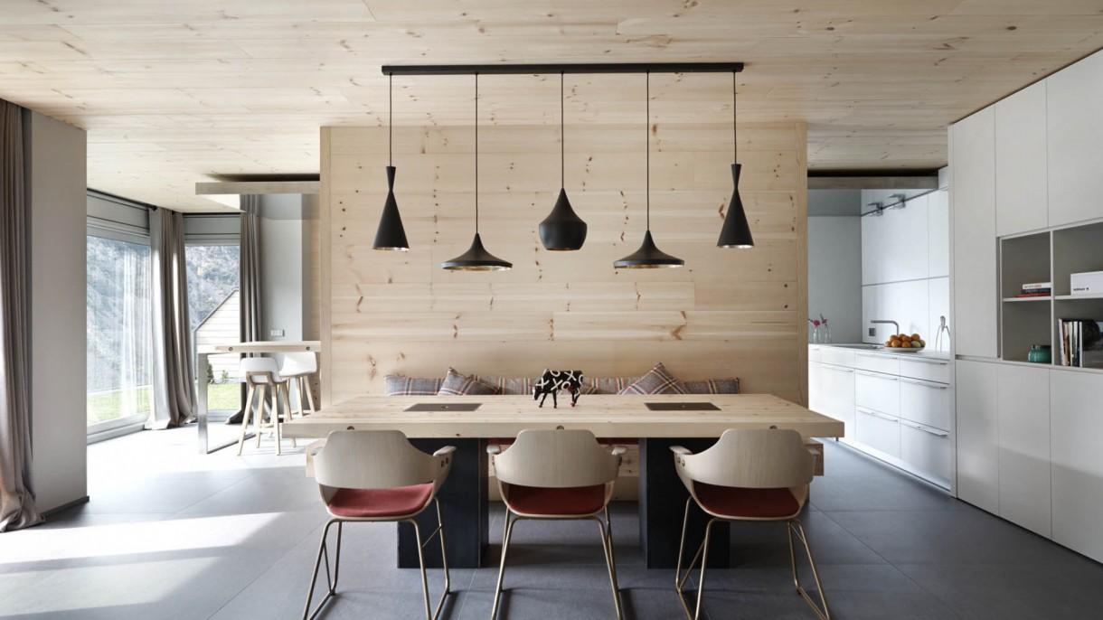 Salon, Nowoczesność z domieszką drewna