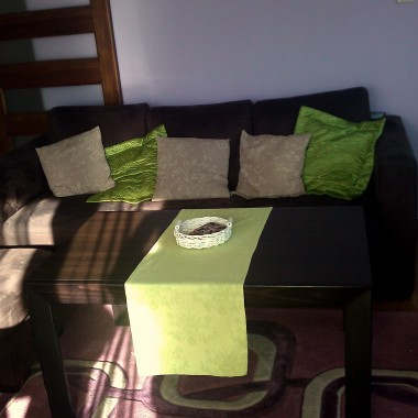 limonkowo-fioletowy salon :)