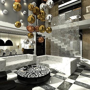 Projekt Wnetrza Domu W Stylu Glamour Deccoria Pl