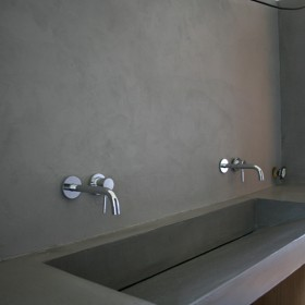 Nowoczesna łazienka - umywalki z betonu architektonicznego