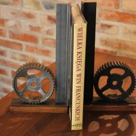 Podpórki do książek w stylu LOFT INDUSTRIAL