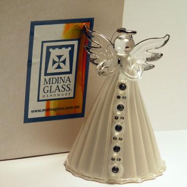 Ręcznie wykonane, szklane aniołki Mdina Glass