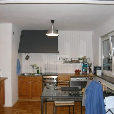 Kuchnia z salonikiem po zmianach.