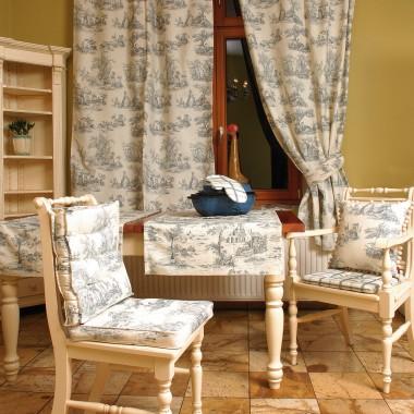 Zasłona, bieżnik, siedzisko szyte z kolekcji Avinon http://www.dekoria.pl/offer/fabrics_collection/2/Kolekcja-Avinon