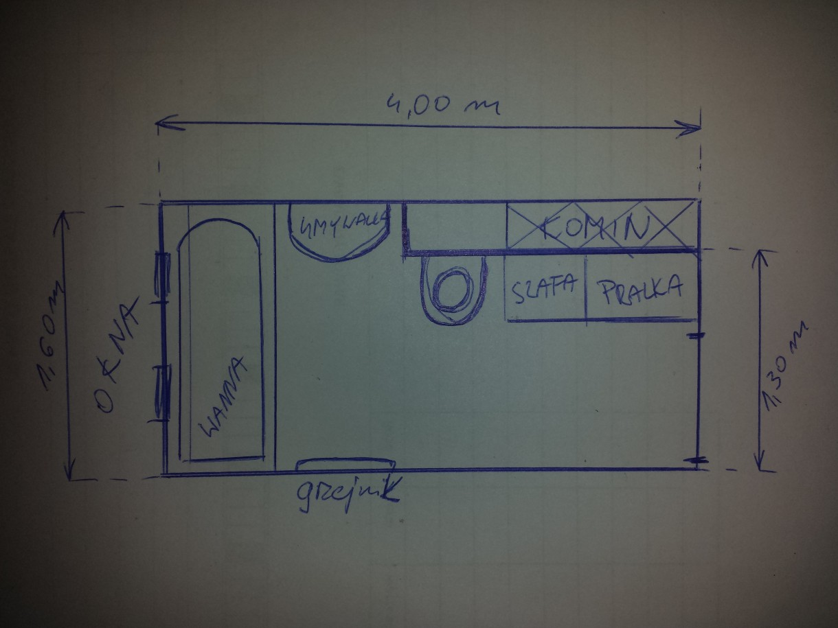 Długa I Wąska łazienka Deccoriapl