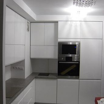 Nowoczesne meble kuchenne biały lakier