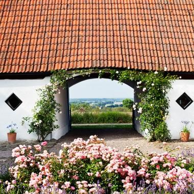 Kilka staruch odrestaurowanych farm na szwedzkiej wsi