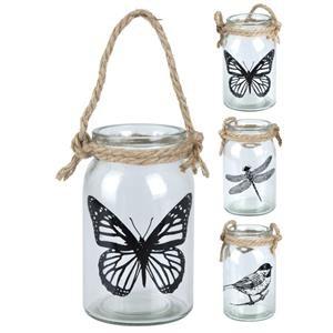 Szklany lampion na sznurku - proste i piękne