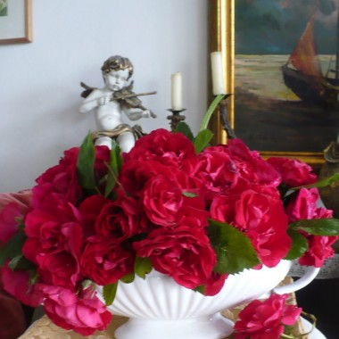 ..............i różana dekoracja..................