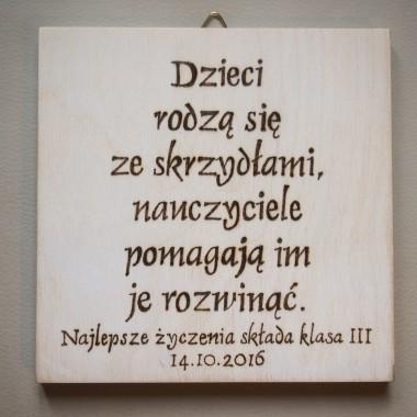 Personalizowana tabliczka dla nauczyciela.
