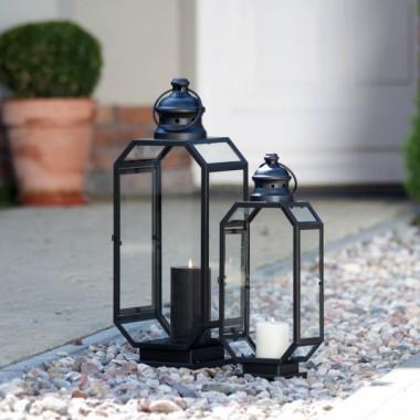 Lampion metalowy do domu lub ogrodu