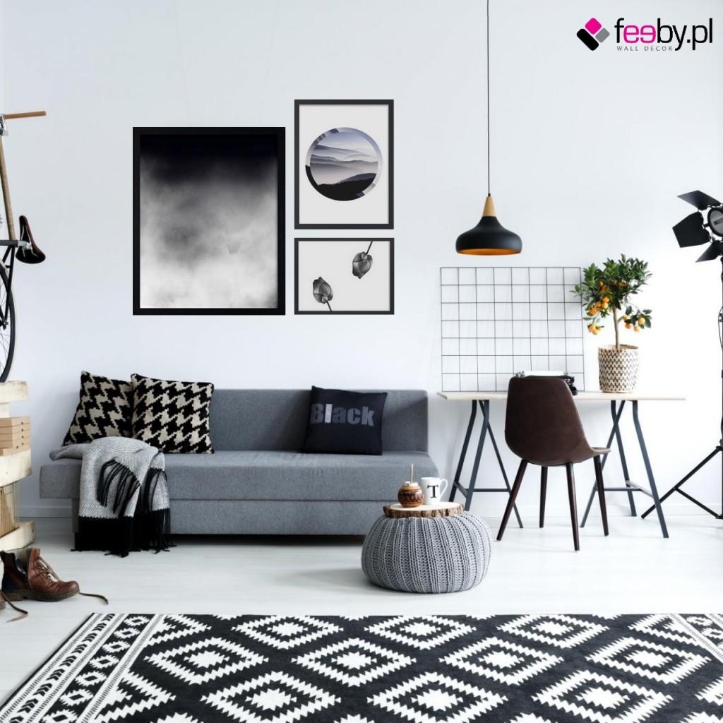 Pozostałe, Elegancja obrazów czarno białych - Subtelna, acz lekko drapieżna galeria obrazów black & white ze skandynawską nutą. żródło Feeby.pl